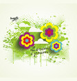 watercolor splash with flowers for summer holiday vector image
