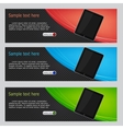 Website headers tablet promotion banners vector | Price: 1 Credit (USD $1)