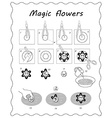 will blossom in black and white vector image vector image