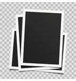 Old photo frame set vector image