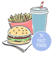 with fast food vector image