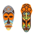 African mask set vector image