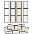 set of film strips vector image