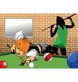 Cartoon snooker vector image