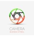 Shutter icon company logo business symbol concept vector image