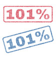 101 percent textile stamps vector image vector image