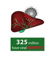 325 million have viral hepatitis hepatitis day vector image