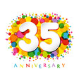 35 years anniversary paper colorful logo