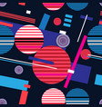 abstract bright geometric seamless pattern vector image vector image
