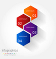 Abstract hexagon business infographics elements
