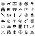 adventure icons set simple style vector image vector image