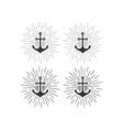 anchor logo boat sailing sea ship brand club vector image vector image