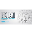 Big Idea concept with Doodle design style Finding vector image