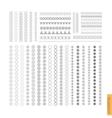Big Set of minimal geometric monochrome shapes vector image
