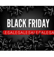 black friday sale discount promo fashion ribbon vector image