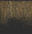 bright gold shimmer abstract transparent particle vector image