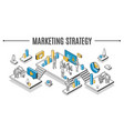 business marketing strategy isometric vector image vector image