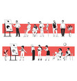 business people in office young diverse men vector image vector image