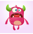 cartoon pink monster vector image vector image