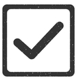 Checkbox Icon Rubber Stamp vector image vector image