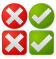 checkmark and cross vector image vector image