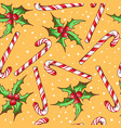 christmas seamless pattern with candy vector image vector image