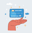 close up credit card vector image vector image