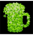 clover beer mug vector image