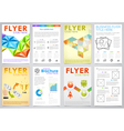 Collect Flyer Design Template vector image
