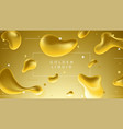 colorful banner with abstract golden liquid shapes vector image