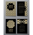 Cover brochure gold design Arabic traditional vector image vector image