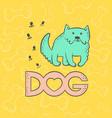 cute dog mastiff funny caricature animal vector image vector image