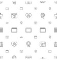 date icons pattern seamless white background vector image vector image