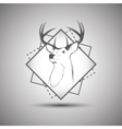 Deer head logo isolated on white background vector image vector image