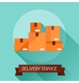 Delivery service icon on background in flat design vector image
