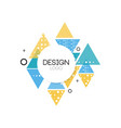 design logo template abctract geometric element vector image vector image