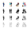 design of character and avatar logo set of vector image vector image