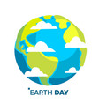 Earth day concept whole earth sphere