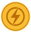 electric power gold coin vector image vector image