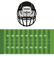 Field and helmet vector image vector image