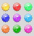 flag icon sign symbol on nine wavy colourful vector image