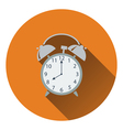 Flat design icon of Alarm clock in ui colors vector image
