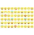 flat emoji faces flat emoticon smiling avatars vector image vector image
