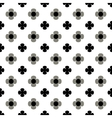 Flower gray and black seamless pattern vector image vector image