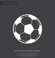 football ball premium icon white on dark backgroun vector image vector image