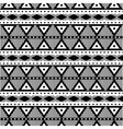 Geometric black and white pattern vector image vector image