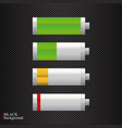 glossy battery icons vector image