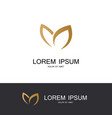 gold leaf abstract logo vector image