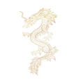 gold outline chinese mythic dragon cut file vector image
