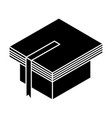 graduation hat with book vector image vector image